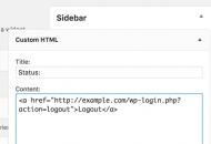 Logout HTML widget