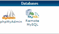 Database options in CPanel