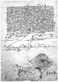 Edict of 1492 expelling the Jews from Spain.