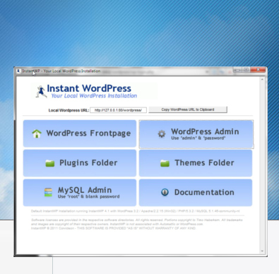 Instant WordPress install, free and easy!