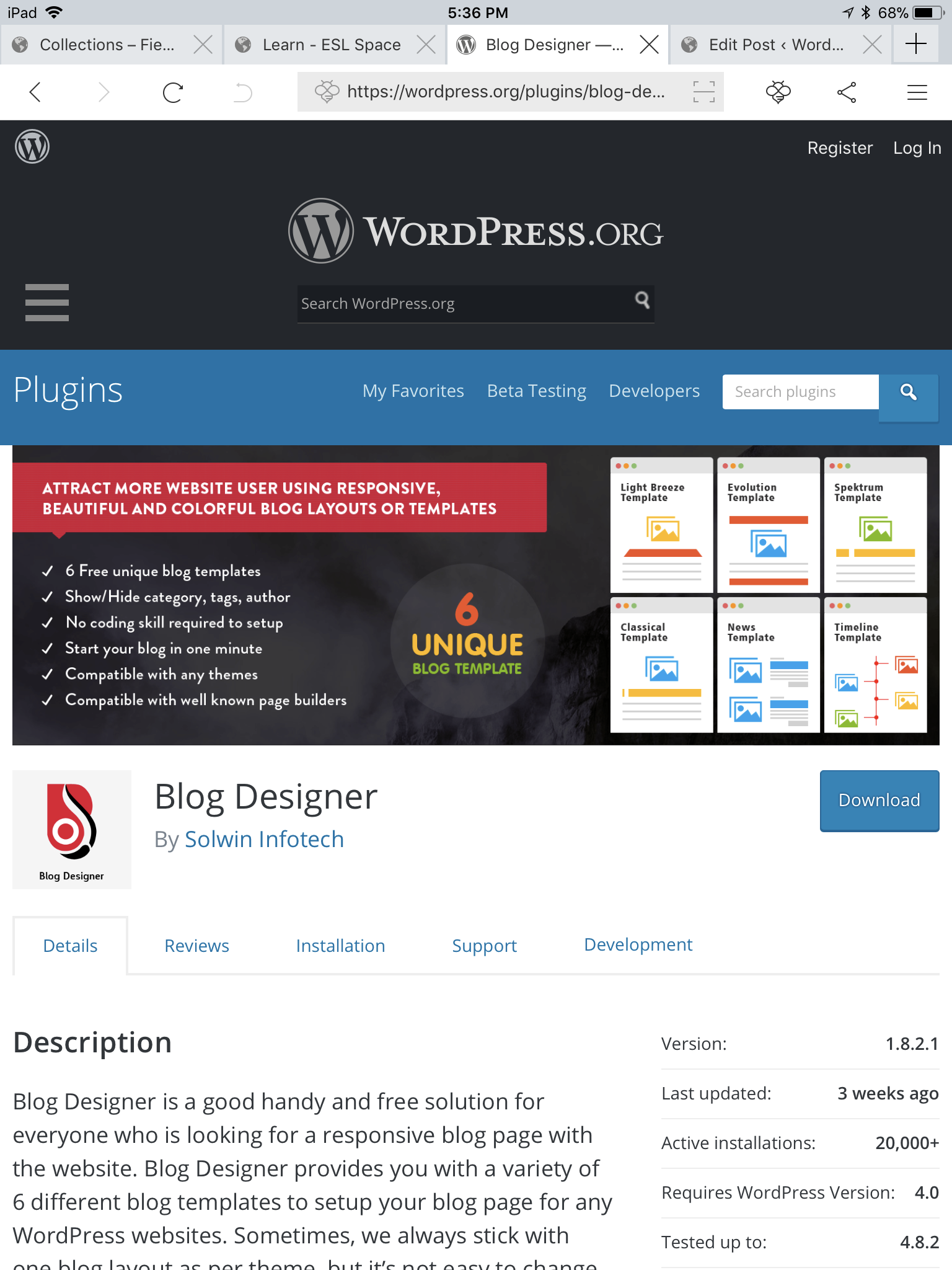 Plug-in Conflict w 'Blog Designer'